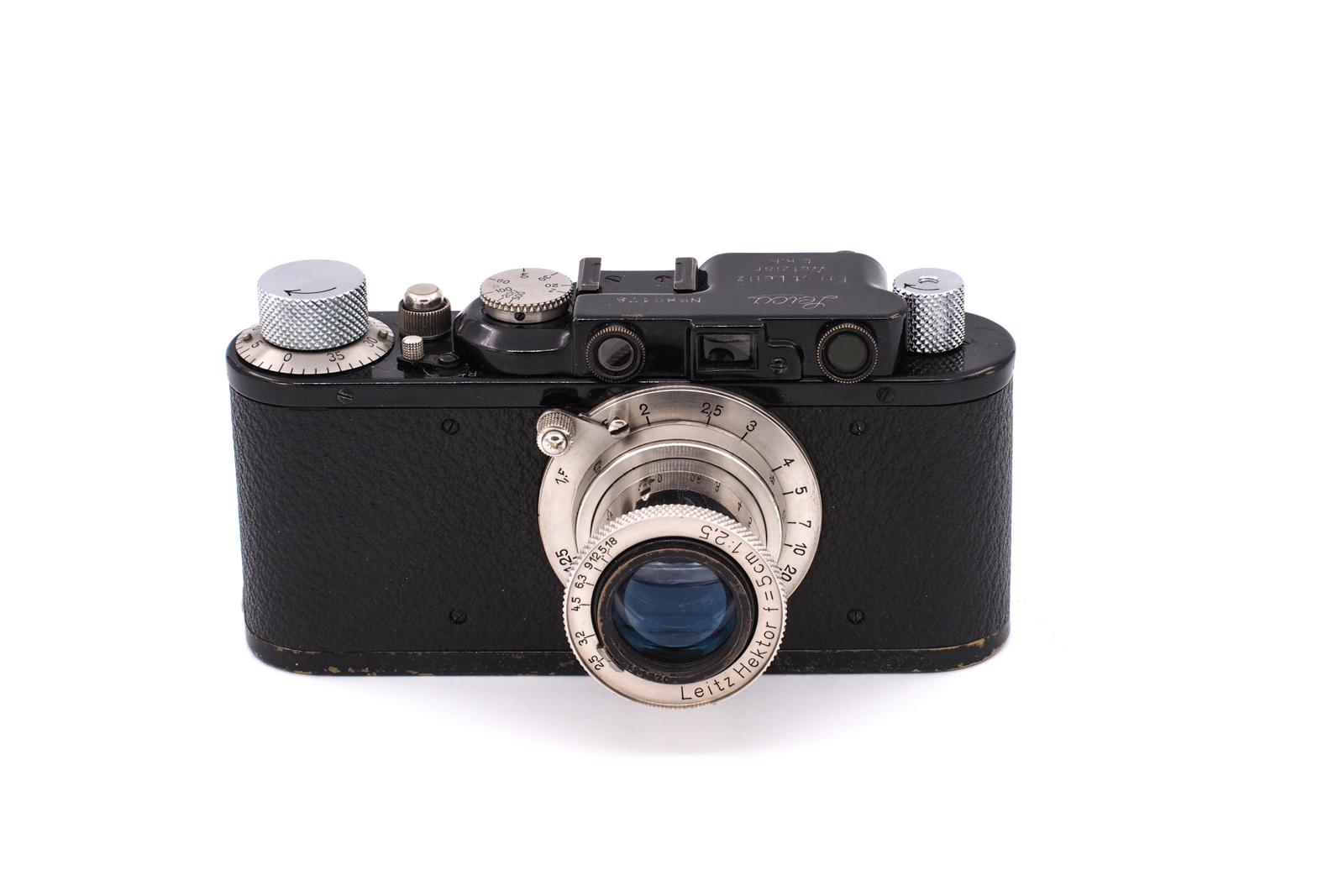 Leica II black 1932 + 5cm F/2.5 Hektor nickel 1932