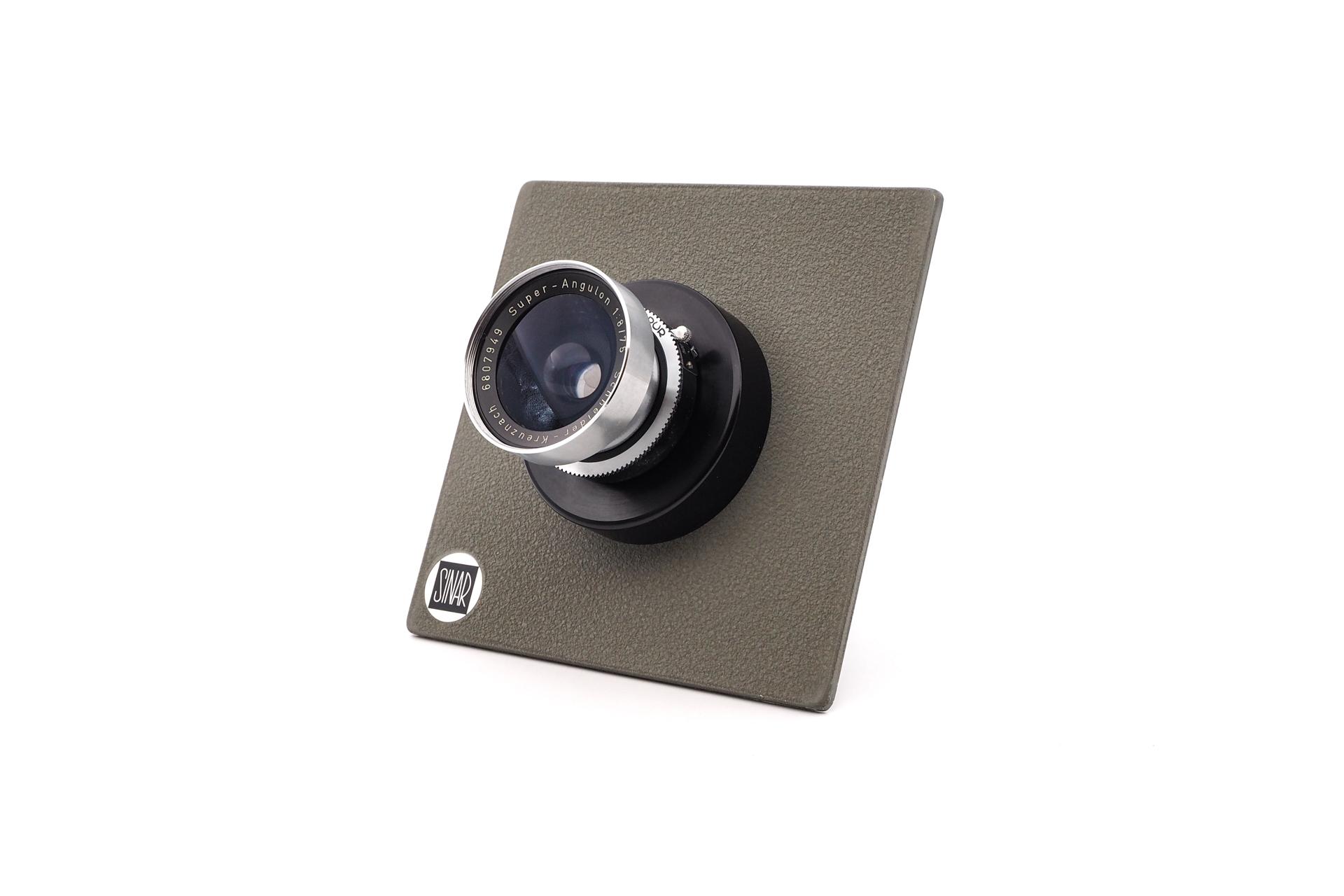 Sinar Plate Schneider super-angulon 1:8/75MM Synchro-Compur