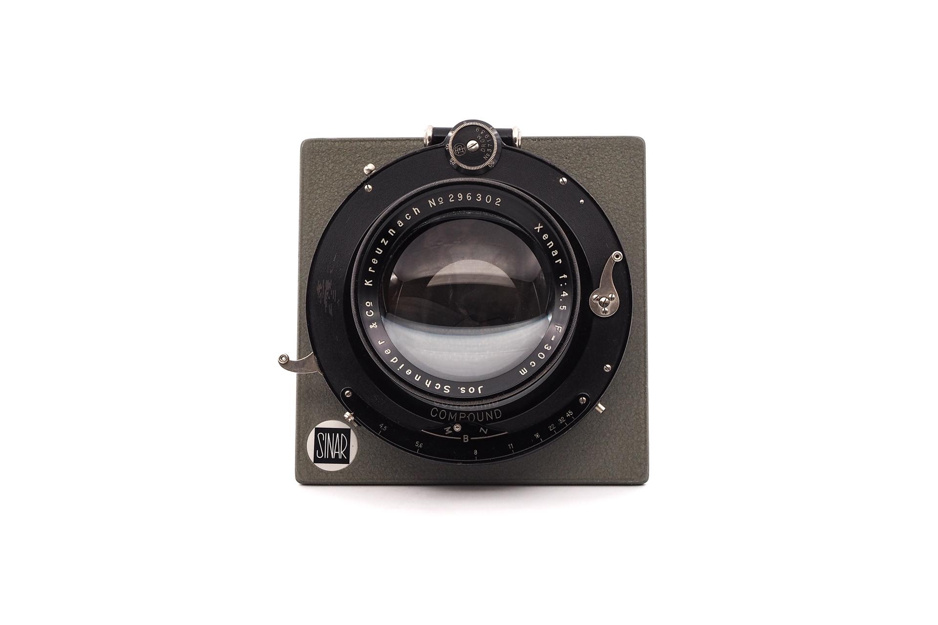 Sinar Plate Schneider 30cm F/4.5 Compound shutter