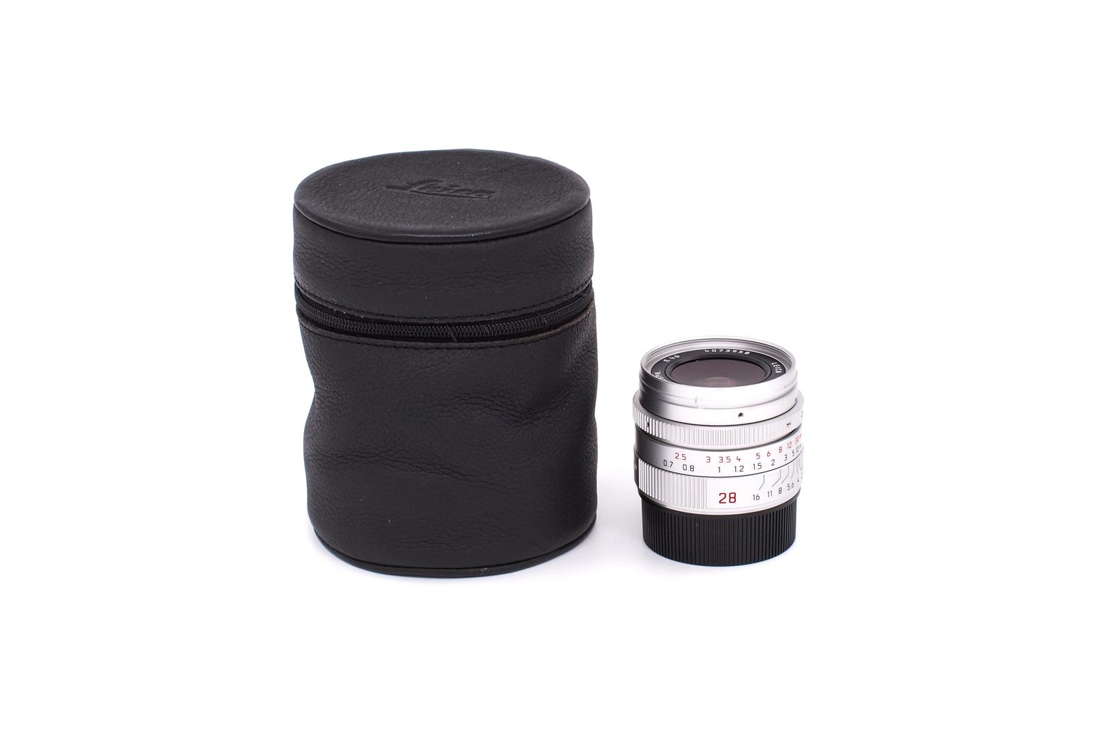 Leica Summicron-M 1:2/28mm ASPH chrome