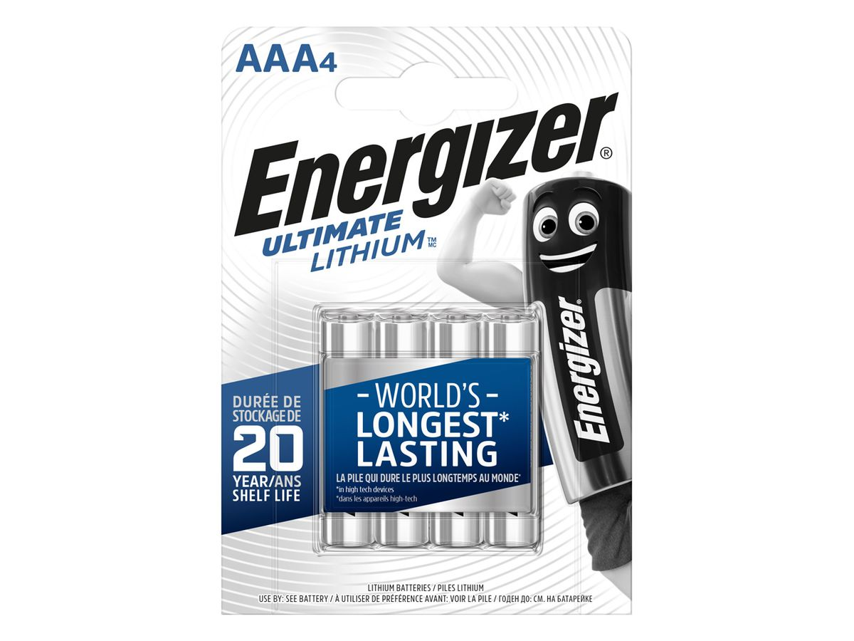 Energizer AAA/L92 Ultimate Lithium 4-Pack